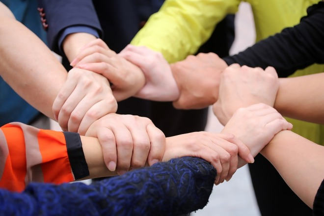Trust Hand Teamwork Keep Cooperation Unity