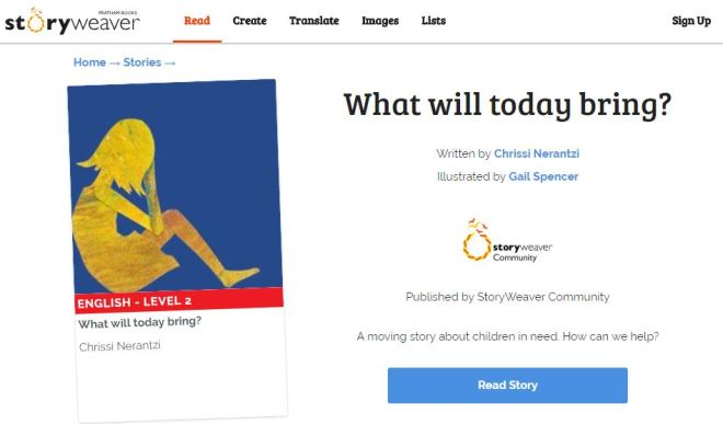 What will today bring storyweaver
